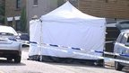 A forensic tent on Tower Hill
