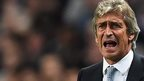 Manchester City manager Manuel Pellegrini reacts during the Roma match