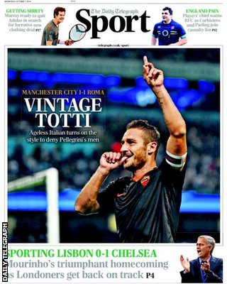 Daily Telegraph Wednesday back page