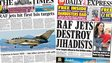 Composite image of Times and Express front pages