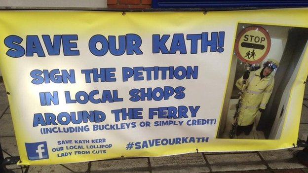 Campaign to save ollipop lady Cath Kerr