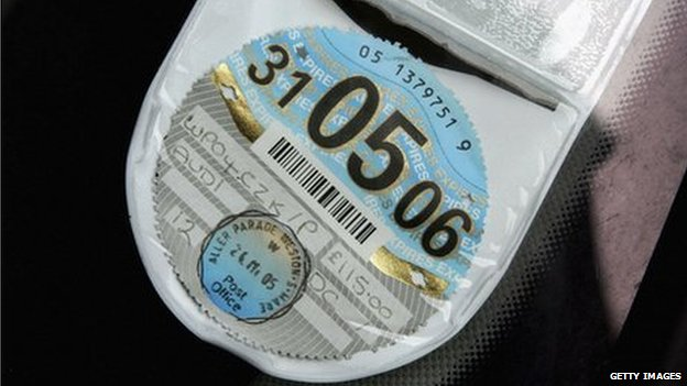 Road tax disc