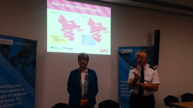 Police and Crime Commissioner Jane Kennedy and Chief Constable John Murphy