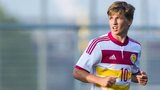 Ryan Gauld in action for Scotland Under-21s