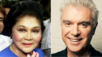 Imelda Marcos and David Byrne