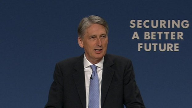 Philip Hammond addressing the conference