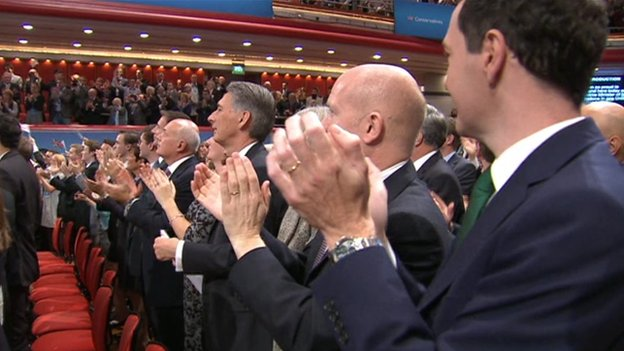 The Cabinet applauds David Cameron