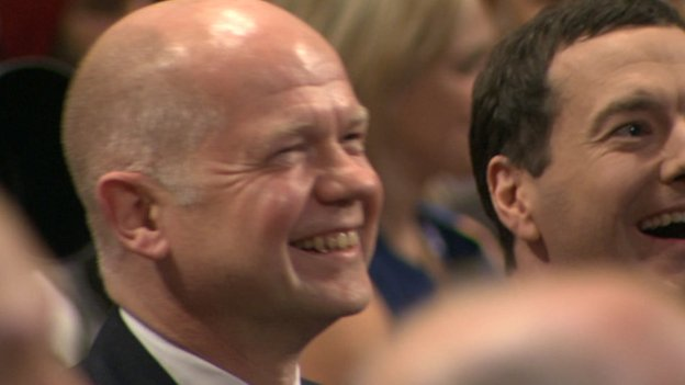 William Hague laughing