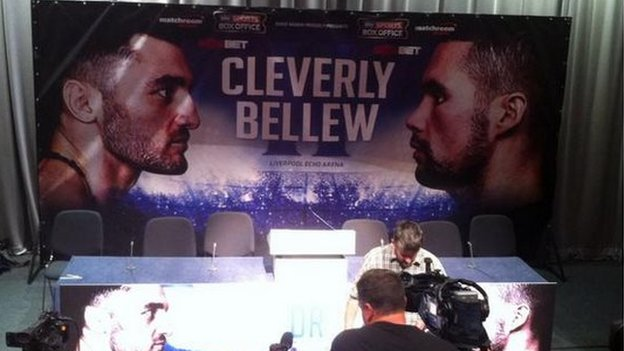 Boxing match press conference
