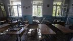 Classroom in Donetsk school number 57 (1 Oct)