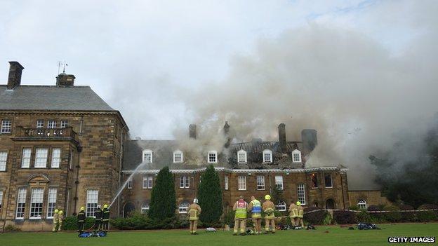 Fire at Crathorne Hall