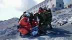 Rescuers at Mount Ontake, Japan