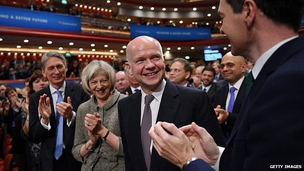 William Hague gets an ovation