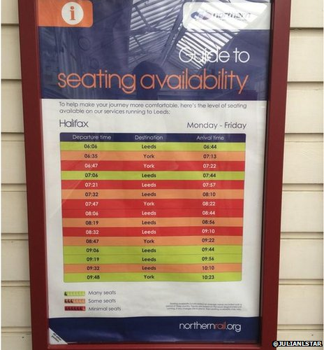Seating availability poster