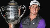Rory McIlroy with the Wanamaker Trophy after his USPGA victory