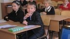 Children at school number one in Donetsk