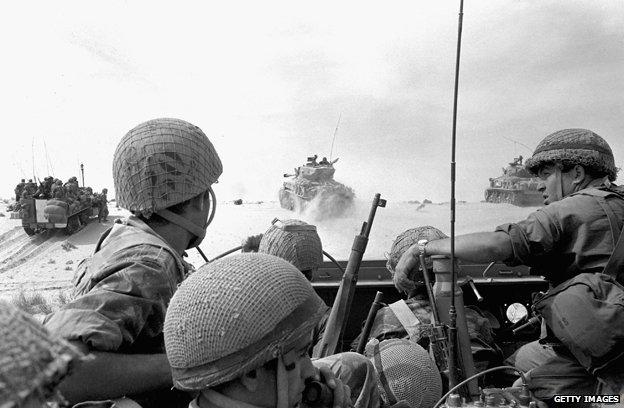 Israeli soldiers during the Arab-Israeli war 1967