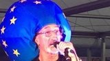 Eddie Jordan at the Ryder Cup performing with his band The Robbers