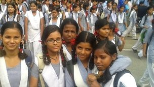 Girls in New Delhi, India