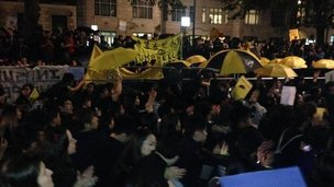 Hong Kong protest in London