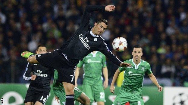 Ludogorets 1-2 Real Madrid (Grupa B)