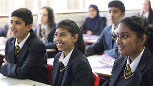 Pupils at Finham Park School