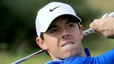 Rory McIlroy is in action at Carnoustie on Thursday
