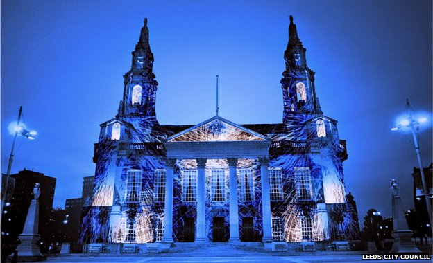 artist's impression of Civic Hall illuminations
