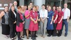 Cancer services team at South Tyneside hospital