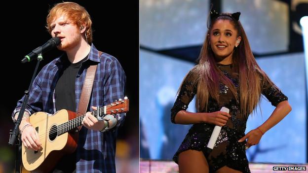 Ed Sheeran, Ariana Grande