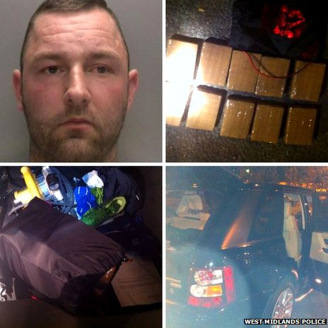 David Partington of Roch Crescent, Whitefield and heroin found in his car boot