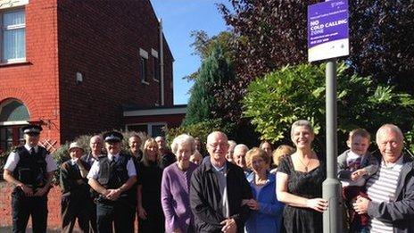 Orrell Park residents with councillor Ann O'Byrne