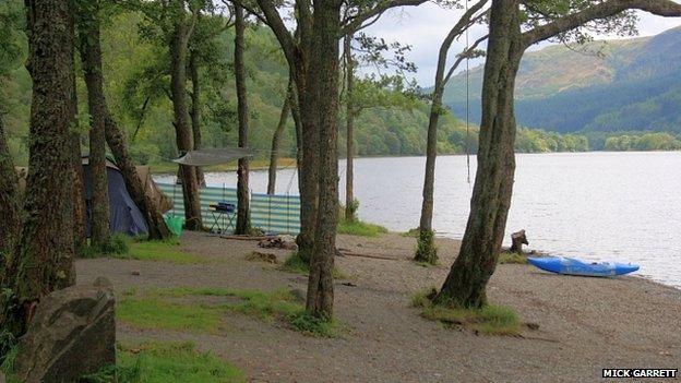 Loch Lomond camping