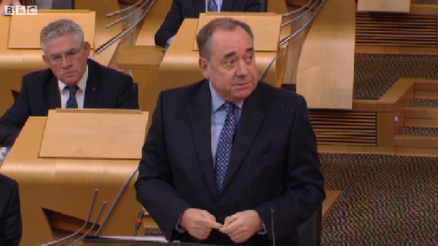 Salmond at First Ministers Questions