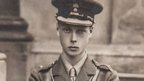 Edward VIII, then a young Prince Albert, is pictured in his Grenadier Guards uniform in 1914