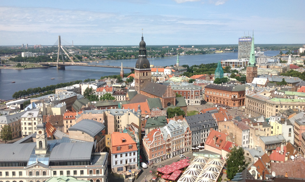 Skyline of the Latvian capital Riga