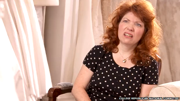 A mum sneers in a Republican campaign advert.