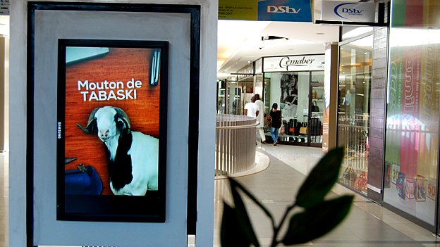 Advert for Tabaski sheep in one of Dakar's high end shopping malls