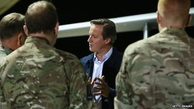 David Cameron at RAF Akrotiri in Cyprus
