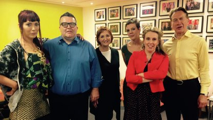 Paris Lees, Tom Watson, Suzanne Evans, Francesca Martinez, Miranda Green and Michael Portillo.