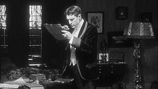 William Gillette as Sherlock Holmes in 1916 film