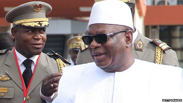 Mali's president, Ibrahim Boubacar Keita