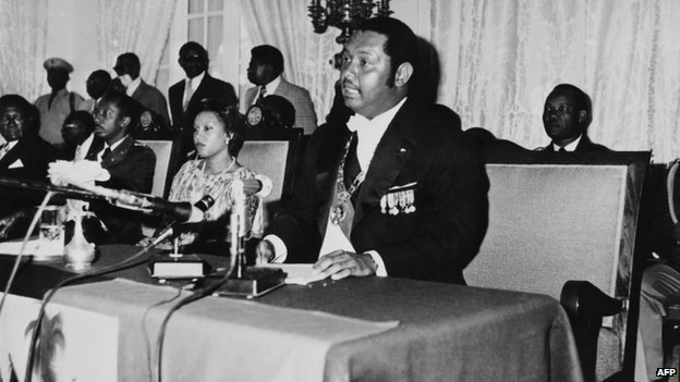 Duvalier delivers a speech on in this January 02, 1976
