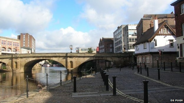 King's Staith next to the River Ouse in York
