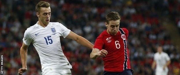Calum Chambers of Arsenal and England