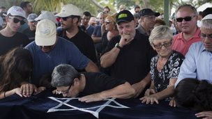 Mourners grieve at funeral of four-year-old Daniel Tragerman (24/08/14)