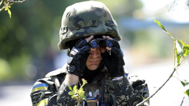 Ukrainian volunteer from Dnipro battalion (file pic)