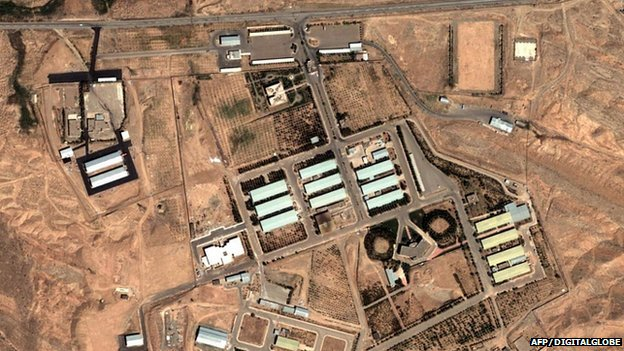 Satellite image of Parchin military complex near Tehran from 2004