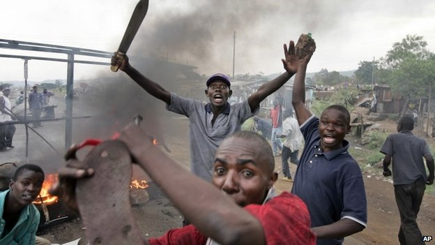 Members of the Luo tribe in Kenya in post-election violence in 2008