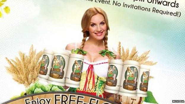 Publicity poster for a Malaysian Oktoberfest event